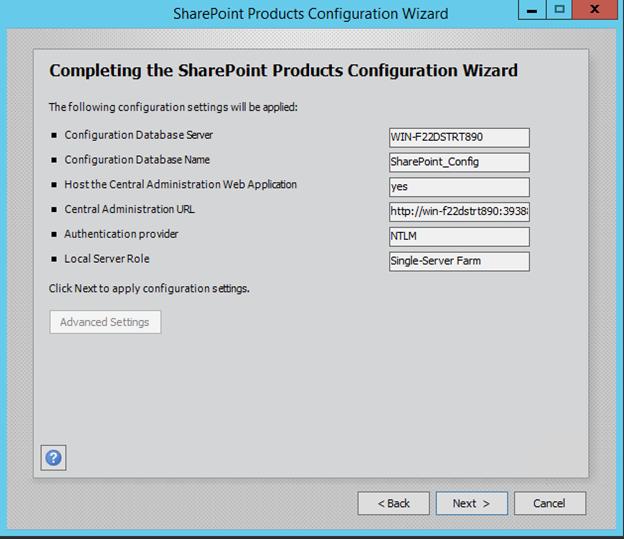 SharePoint 2016 Configuration