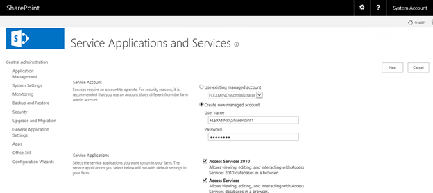 Service Applications