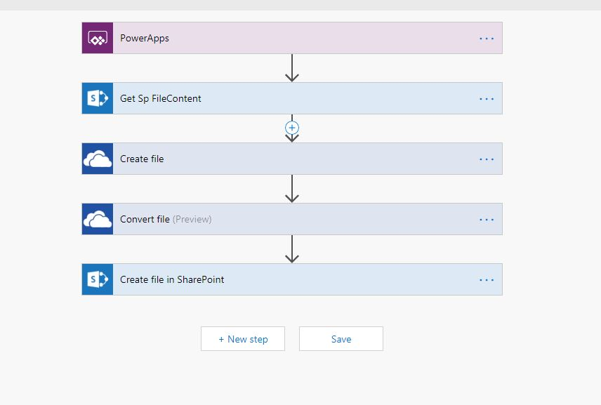 convert documents into PDF using Microsoft Flow 1