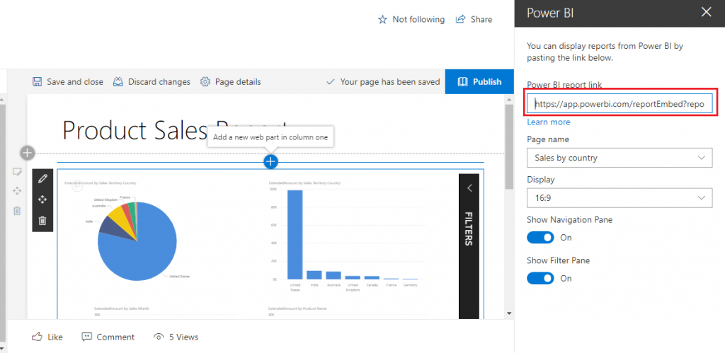 SharePoint Embed Power BI Report