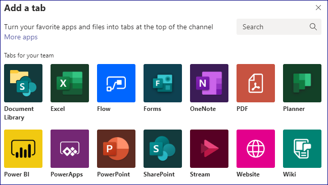 Add powerapps from ms teams