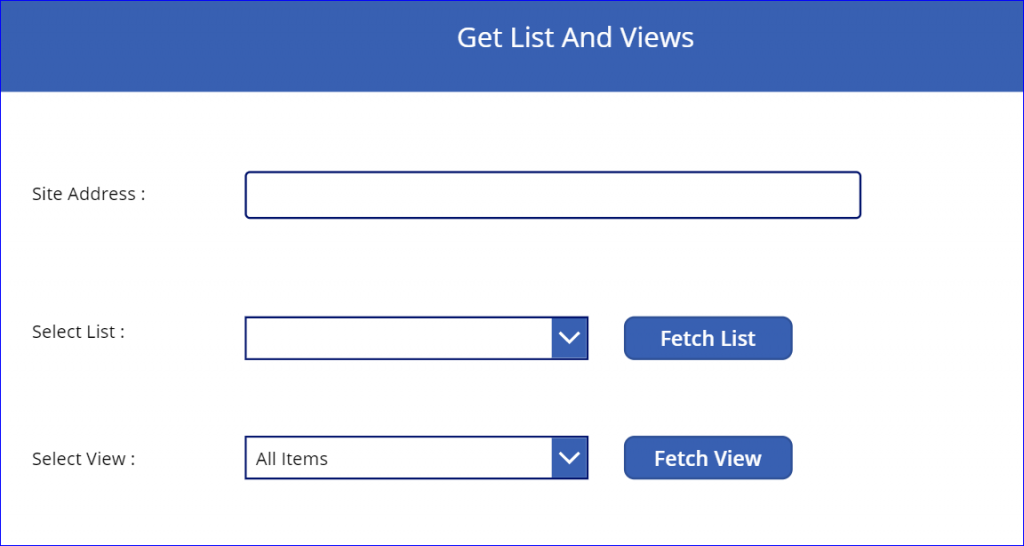 Get List and Views screen