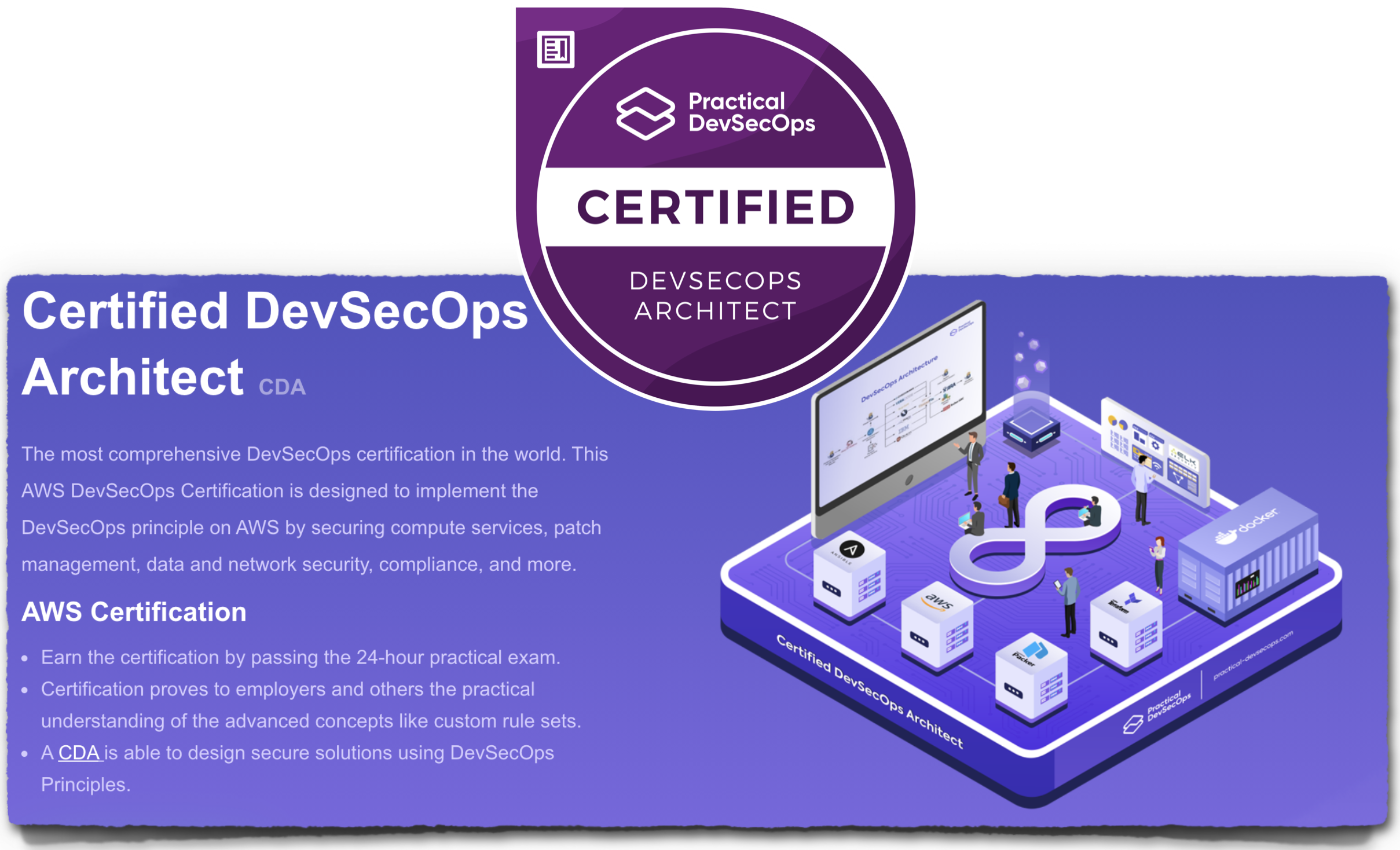CDA certified DevSecOps Architect in AWS