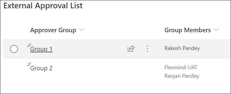 External Approval List in PowerApps